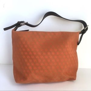Dooney & Bourke Orange Hobo Shoulder Bag Purse